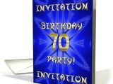 70 Year Old Birthday Invitations 70 Years Old Birthday Party Invitation Card