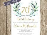 70 Year Old Birthday Invitations 70th Birthday Invitation Birthday Invitations for Woman