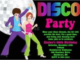 70s Party Invitations Templates 70 39 S Disco Dance Party Birthday Invitations Printable or