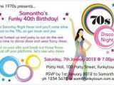 70s Party Invitations Templates 70s Party Invitations Templates Newhairstylesformen2014 Com