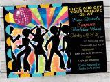 70s Party Invitations Templates Cool Retro 70 39 S Disco Birthday Invitation Adult or Child