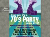 70s theme Party Invitations 70s Party Invitations Nifty Printables