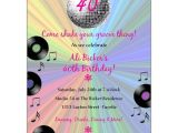 70s theme Party Invitations Groovy Disco Ball Birthday Invitations Paperstyle
