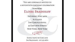 70th Birthday Invitation Wording Classic 70th Birthday Milestone Invitations