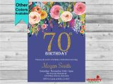 70th Birthday Invitations for Female 70th Birthday Invitation for Women Adult by