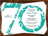 70th Birthday Invitations for Her 70th Birthday Invitation Templates Birthday Ideas