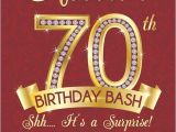 70th Birthday Invitations for Her Milestone Birthday Invitation Surprise 70th Birthday