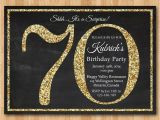 70th Birthday Invitations Free Download 70th Birthday Invitation Gold Glitter Birthday Party