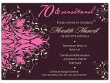 70th Birthday Party Invitations Wording andromeda Pink 70th Birthday Invitations Paperstyle