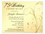 "75th Birthday Invitation Card Ideas Elegant 75th Birthday Surprise Party Invitations 4 25"" X 5"