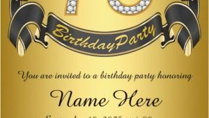 75th Birthday Invitation Wording Ideas 75th Birthday Invitations 50 Gorgeous 75th Party Invites