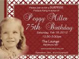 75th Birthday Invitation Wording Ideas 75th Birthday Invitations Sayings