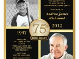 75th Birthday Party Invitation Ideas 75th Birthday Invitations 50 Gorgeous 75th Party Invites