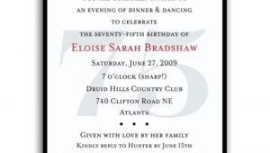 75th Birthday Party Invitation Templates 16 75th Birthday Invitations Unique Ideas