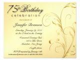 75th Birthday Party Invitation Templates Personalized 75th Invitations