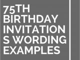 75th Birthday Party Invitation Wording Best 25 75th Birthday Invitations Ideas On Pinterest