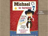 7th Birthday Invitation Card Printable 7th Birthday Invitation Cowboy Birthday Invitation