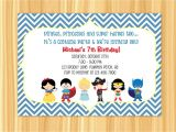 7th Birthday Invitation Card Printable Invitation Card 7th Birthday Boy Lovely 7th Birthday