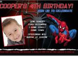 7th Birthday Invitation for Boy Spiderman theme Cu896 Spiderman Birthday Invitation Boys themed
