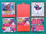 7th Birthday Invitation for Boy Spiderman theme Lenard Spiderman themed 7th Birthday Invitation Stunro
