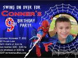 7th Birthday Invitation for Boy Spiderman theme Spiderman Invitation Template Free Download Everything