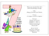 7th Birthday Invitation Sample 10 Best Images Of 7th Birthday Party Invitations 7th