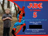 7th Birthday Invitation Spiderman theme A Spidery Spider Man Birthday Party