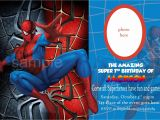 7th Birthday Invitation Spiderman theme Blank Spiderman Invitations – Invitetown