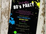 80 theme Party Invitations 80s Birthday Invitation totally Awesome 80s Party Retro