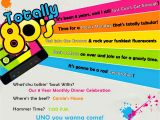 80 theme Party Invitations totally 80 S Party Invite