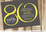 80 Year Old Birthday Party Invitations Free Printable 80th Birthday Invitations Drevio