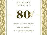 80 Years Birthday Invitation Template 80th Birthday Invitation Templates Free Greetings island
