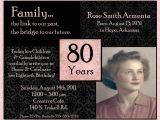 80 Years Birthday Invitation Template 80th Birthday Invitations Templates Free