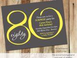 80 Years Birthday Invitation Template Milestone Birthday Invitation 80th Birthday Invitation