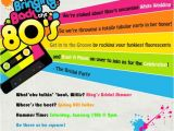 80s Birthday Party Invitation Template 80s Party Invitation Templates