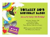 80s Birthday Party Invitation Template 80s theme Invitation Templates Party Invitations Ideas