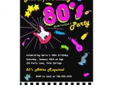 80s Birthday Party Invitation Template totally 80 39 S Birthday Party Invitations Zazzle