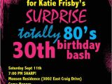 80s Birthday Party Invitation Wording Printable Birthday Invitation totally 80 39 S Party by