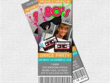 80s Party Invitations Free Printable 80 39 S Party Ticket Invitations Print Your Own