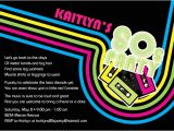80s Party Invitations Template Free 80 39 S Party Invitations by Noteworthy Collections