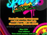 80s Party Invite totally 80 39 S Bling and Neon Birthday Party by Printmeaparty