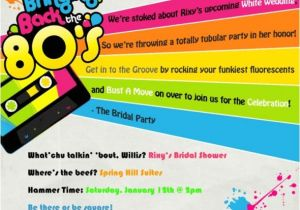 80s theme Party Invitation Templates Free 80s Party Invitation Templates