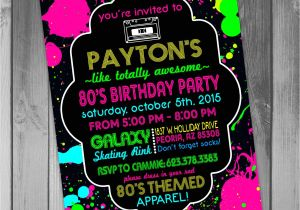 80s theme Party Invitation Templates Free 80th Birthday Party Invitations Party Invitations Templates
