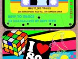 80s themed 40th Birthday Party Invitations I Love the 80 39 S theme Birthday Invitation Cassette Tape