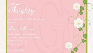 80th Birthday Invitation Sample 15 Sample 80th Birthday Invitations Templates Ideas