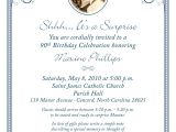 80th Birthday Invitation Sample 80th Surprise Birthday Invitation Wording 90th Birthday