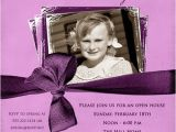 80th Birthday Party Photo Invitations 80th Birthday Invitation Lilac Photo Woman 39 S Purple