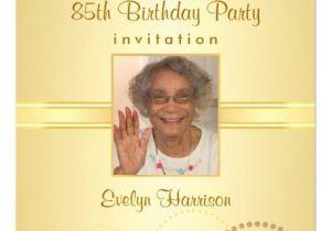85 Birthday Invitations 85th Birthday Party Invitations Photo Optional Zazzle