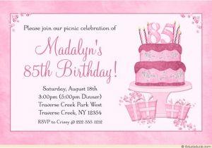 85 Birthday Invitations Birthday Invitation Templates 85th Birthday Invitations