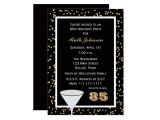 85 Birthday Party Invitations 85th Birthday Party Invitation 85 and Confetti